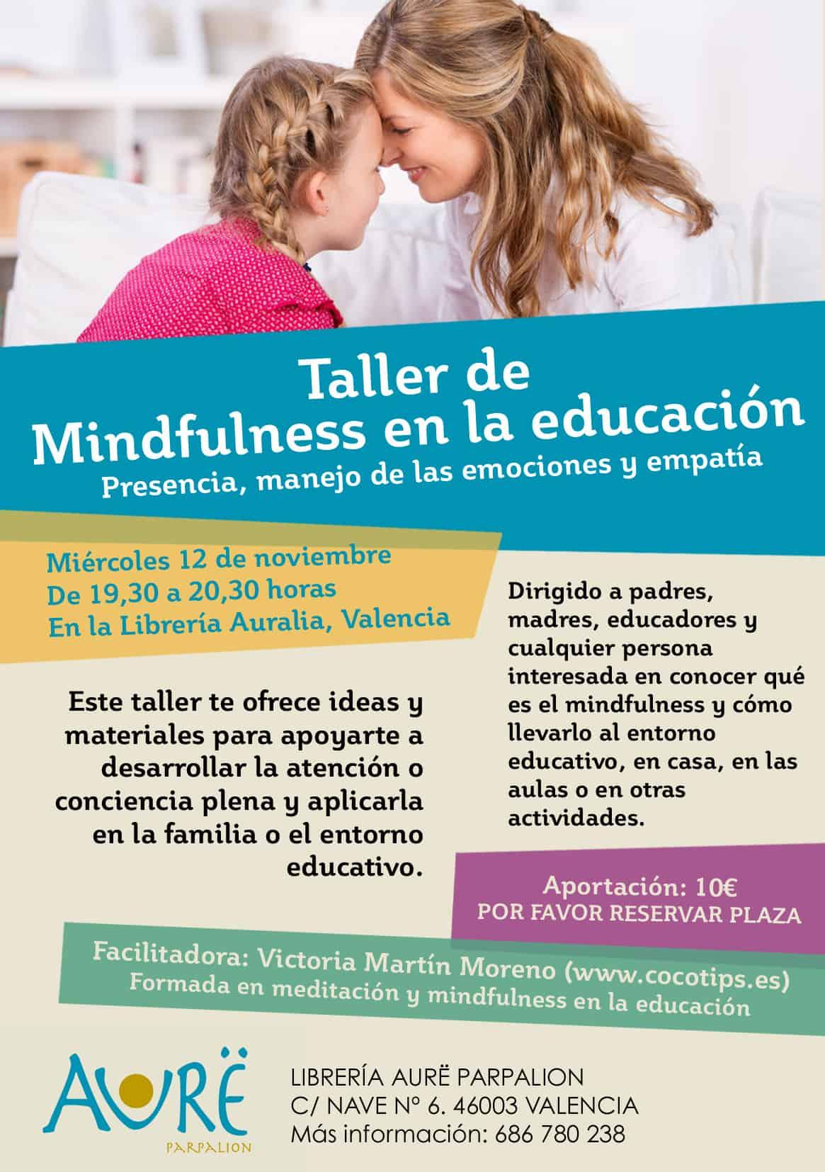 TALLER DE MINDFULNESS EN LA EDUCACIÓN. Cartel Mindfulness En La Educacion