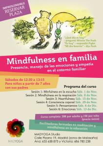 cartel mindfulness en familia